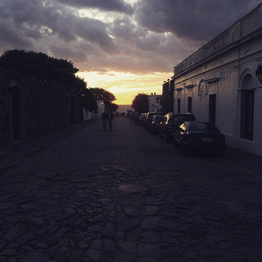 Watercolour sunsets in Colonia del Sacramento